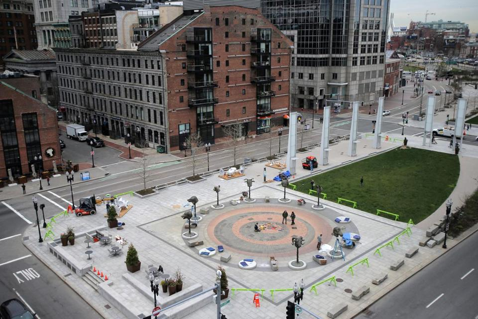 The Rose Kennedy Greenway near Milk Street.